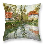 The Dairy At Quimperle Throw Pillow