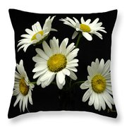 The Daisy Five  Throw Pillow