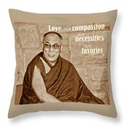 The Dalai Lama Throw Pillow