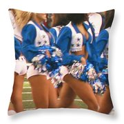 The Dallas Cowboys Cheerleaders Throw Pillow by Donna Wilson