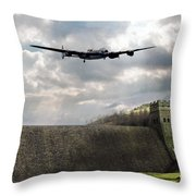 The Dambusters Over The Derwent Throw Pillow