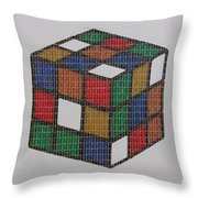 The Dammed Cube Throw Pillow