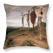 The Damned Field Execution Place In The Roman Empire Throw Pillow