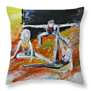 The Dance Audition Throw Pillow