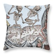 The Dance Of Death Throw Pillow