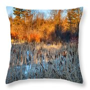 The Dance Of The Cattails Throw Pillow