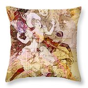 The Dancer And The Pierrot Throw Pillow