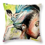 The Dancer In Me Throw Pillow