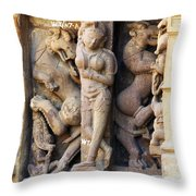 The Dancer In Stone Throw Pillow by C H Apperson