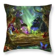 The Dancing Auroras Throw Pillow