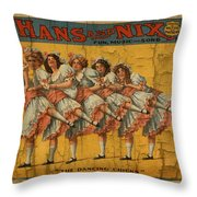 The Dancing Chicks Throw Pillow