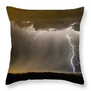 The Dancing Couple - Lightning 10 Throw Pillow