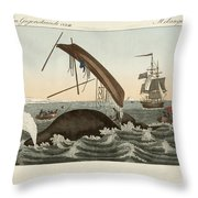 The Dangers Of Whale Fishing Throw Pillow