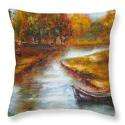 The Danube Delta  Throw Pillow by Elena  Constantinescu