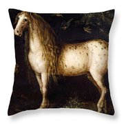 The Dapple-grey Throw Pillow