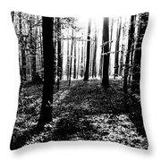 The Dark Forest Throw Pillow