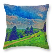 The Dark Hills Throw Pillow by Michelle Greene Wheeler
