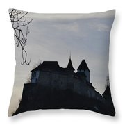 The Dark Side Of The Castle Throw Pillow