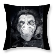 The Dark Ugly Witch Throw Pillow