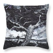 The Darkening Tree Throw Pillow