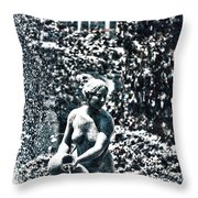 The Daughter Brings The Water Throw Pillow