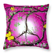 The Dawn Of Peace Throw Pillow