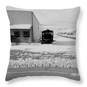 The Day Throw Pillow