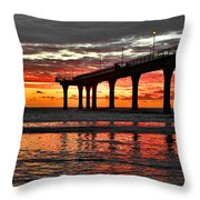 The Day Has Arrived  Throw Pillow