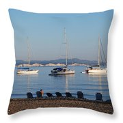 The Day Is Gone Two Throw Pillow