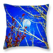 The Day The Moon Stayed Out All Day Throw Pillow