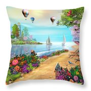 The Day's Glory Throw Pillow