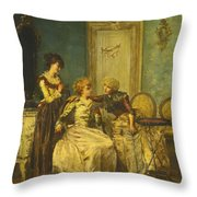 The Day's News Throw Pillow