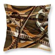 The Days Of Film Throw Pillow