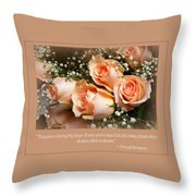 The Days Of Wine And Roses Throw Pillow