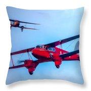 The De Havilland Dh90 Dragonfly Throw Pillow