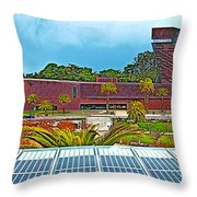 The De Young Fine Arts Museum From Roof Of California Academy Of Sciences In Golden Gate Park-ca Throw Pillow
