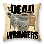 The Dead Wringers Poster Throw Pillow