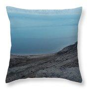 The Dead Sea - Looking At Jordan Throw Pillow