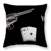 The Deadmans Hand Throw Pillow