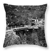 The Deadwood Coach, 1889 Throw Pillow