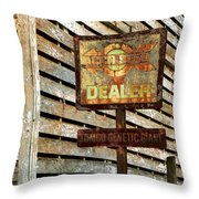 The Dealer Throw Pillow