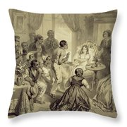 The Death Of Evangeline, Plate 6 Throw Pillow