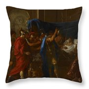 The Death Of Germanicus Throw Pillow by Nicolas Poussin