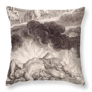 The Death Of Hercules Throw Pillow