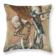 The Death Of Medusa I, C.1876 Throw Pillow