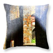 Death Of The Steel Industry Throw Pillow
