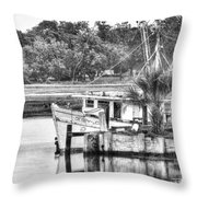 The Debbie-john Shrimp Boat Throw Pillow