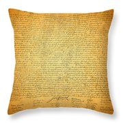 The Declaration Of Independence - America's Founding Document Throw Pillow