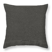 The Declaration Of Independence In Charcoal Throw Pillow