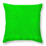 The Declaration Of Independence In Green Throw Pillow